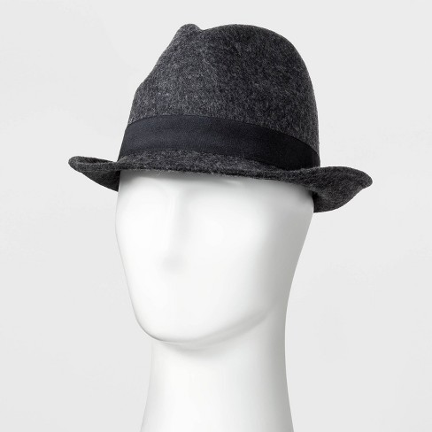 Men's Wool Fedora - Goodfellow & Co™ Gray M/L - image 1 of 2