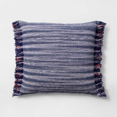 Euro Texture Stripe Decorative Throw Pillow Indigo - Opalhouse™