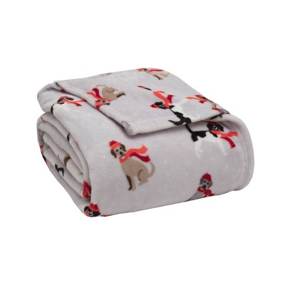 Plush Printed Bed Blanket - Elite Home Products