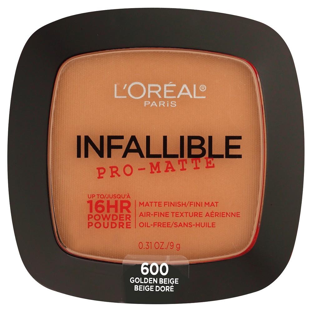 L'Oreal Paris Infallible Pro-Matte Powder 600 Golden Beige .31oz, Golden Beige 600