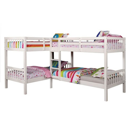 Twin Fritz Kids Bunk Bed Quadruple Bunk Bed White Target