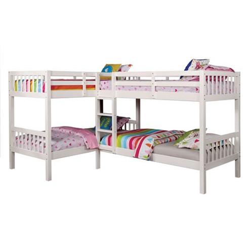 Twin Fritz Kids Bunk Bed Quadruple Bunk Bed White Target