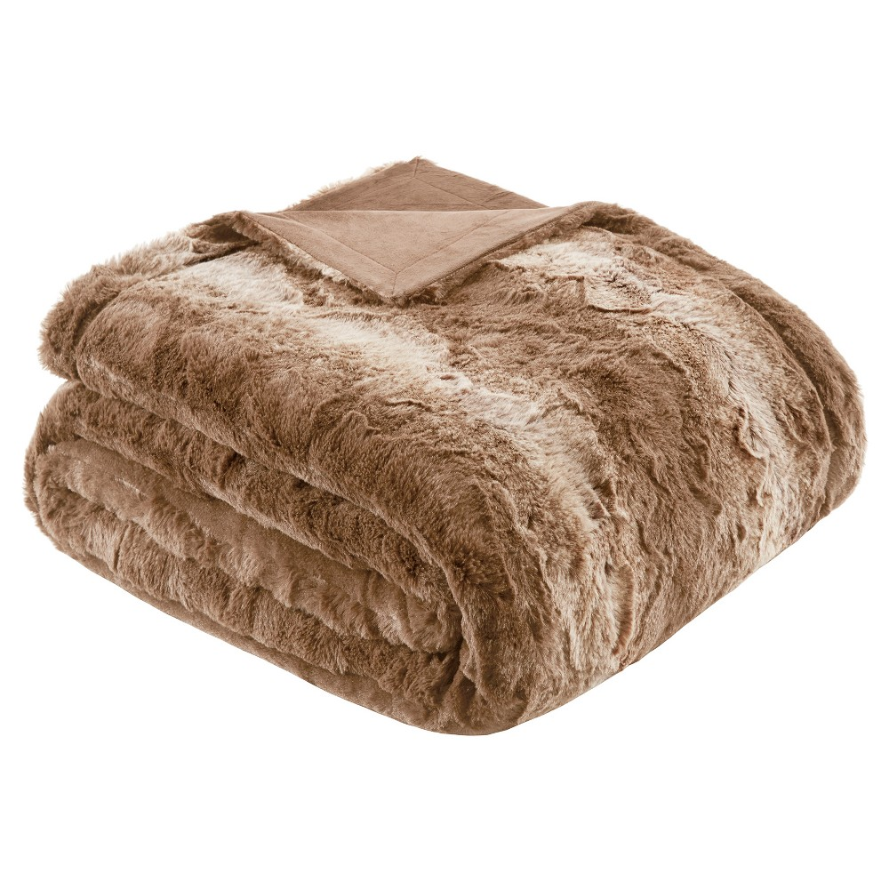 Faux Tip Fur Oversized Bed Throw (80