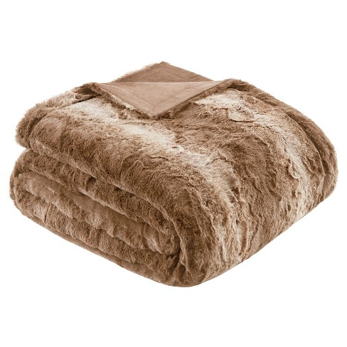 Faux Tip Fur Oversized Bed Throw - image 1 of 3