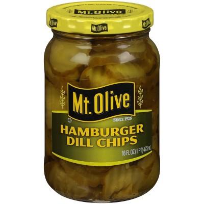 Mt. Olive Hamburger Dill Pickle Chips - 16oz