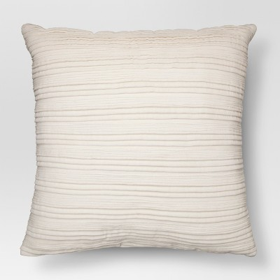 Cream Velvet Texture Throw Pillow - Threshold™