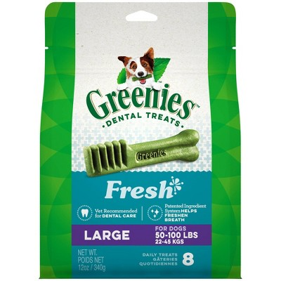 Greenies Fresh Large Dental Dog Treats - 12oz