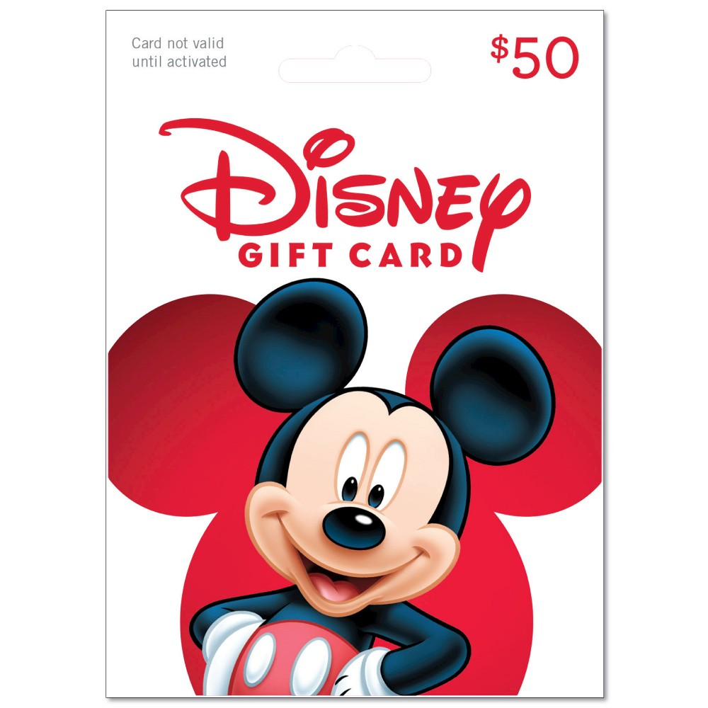 Disney Gift Card $50, Retail and Experience Gift Cards