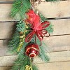 "Northlight 6' x 10"" Unlit Red Burlap and Gold Pinecone Artificial Christmas Garland - image 3 of 3"