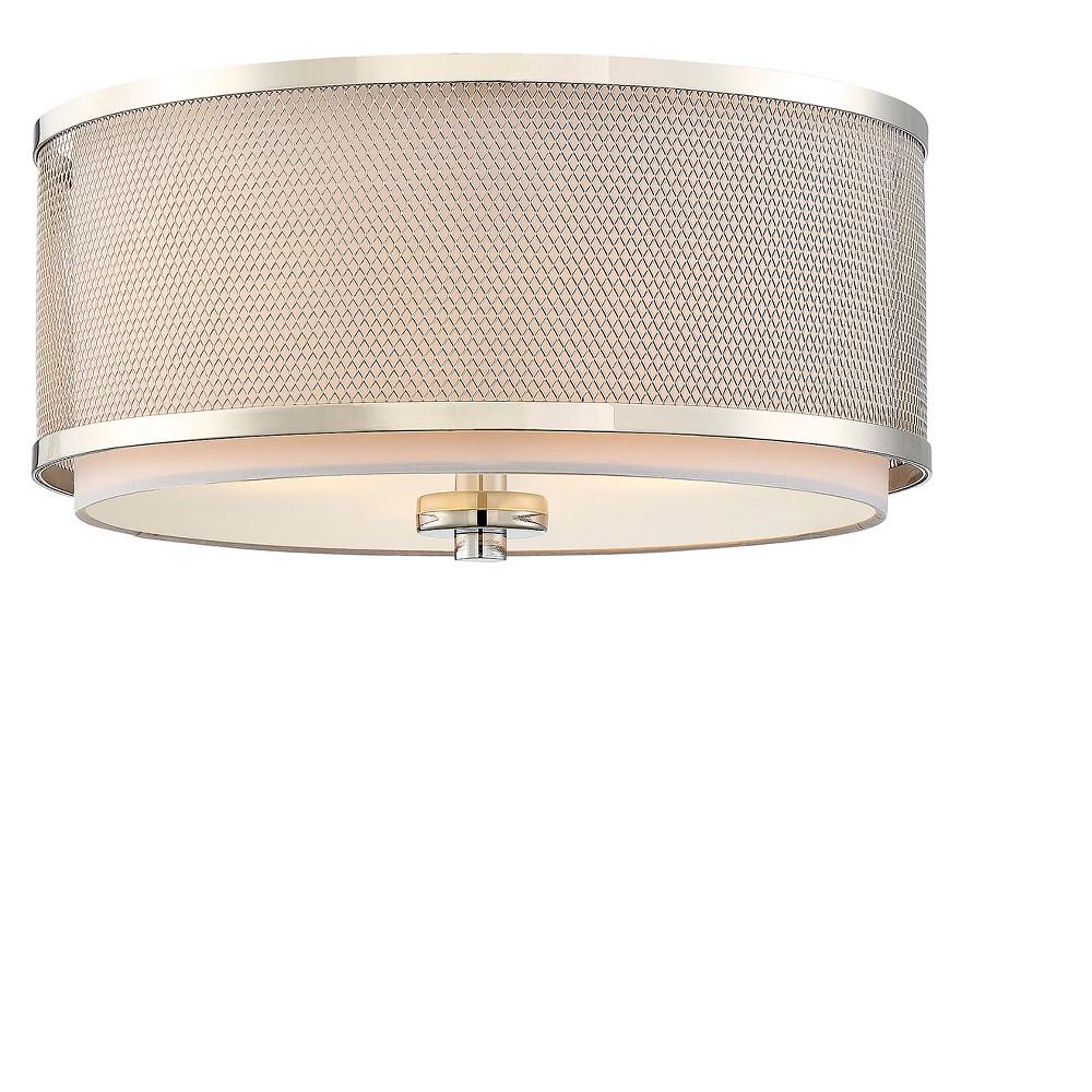 Image of Ceiling Lights Flush Mount Polished Nickel - Aurora Lighting
