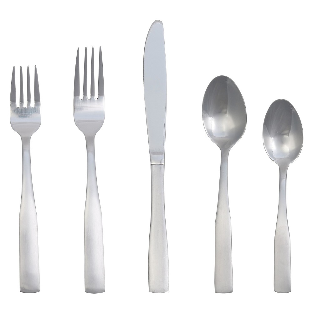 Pryce ware Set 20-pc. Stainless Steel - Room Essentials™ Now dine in style with this 20-piece Stainless Steel Pryce Silverware Set from Room Essentials. The set includes 4 dinner forks, 4 dinner spoons, 4 dinner knives, 4 salad forks and 4 teaspoons.