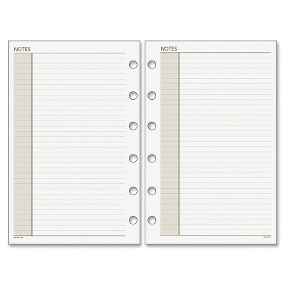 """Acco Notes Pages Refill 3-3/4""""x6-3/4"""" 30 Sheets White 013200"""