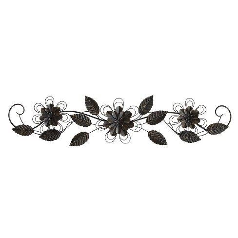 "Stratton Home Decor 9""x38"" Enchanting Over The Door Decorative Wall Art Set Black - image 1 of 2"
