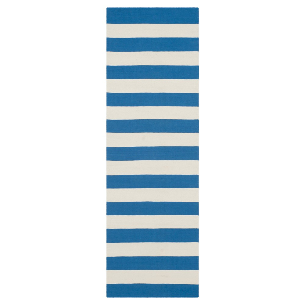 3inx6' Runner Mati Flatweave Blue/Ivory