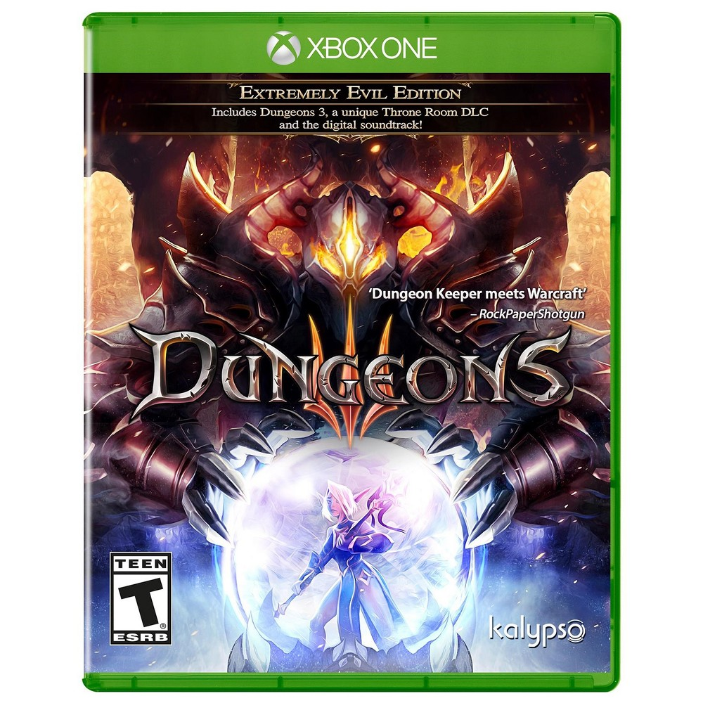 Dungeons 3 - Xbox One, Video Games The Dungeon Lord has successfully united the forces of evil and established his empire. The next step in his most diabolical quest is clear: expansion! Through enticing the dark elf priestess Thalya from the fluffy clutches of the surface world to become his chief lieutenant, the Dungeon Lord has found a way to direct his campaign of conquest from the confines of his underground lair. With Thalya on the front line, and the united forces of evil to support her, players will have to use every trick in the book to best those do-gooders of the overworld, once and for all! Unleash your dark side by creating a unique underground dungeon from a huge array of rooms, traps and structures. Raise the most terrifying army the world has ever seen, by choosing from despicable creatures such as orcs, succubae, zombies and much, much more. Then, once you have built your forces, emerge from the darkness and guide your army to the light of the overworld, where you will corrupt the land and dispatch anything even vaguely heroic, cute or unicorn-shaped. And in a first for the Dungeons series, experience randomly generated levels, so that no two sessions are alike - never-ending fun for any evil conqueror!