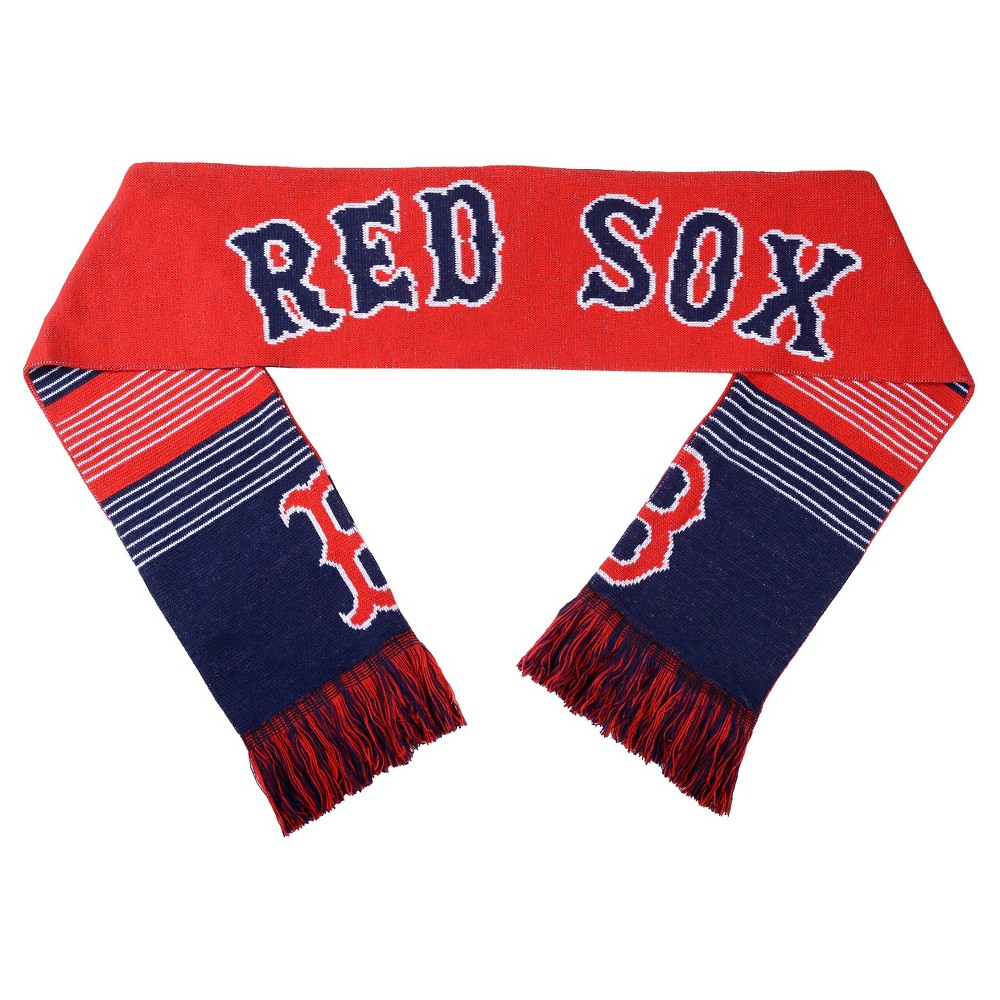 Forever Collectibles - MLB Reversible Split Logo Scarf Boston Red Sox, Kids Unisex