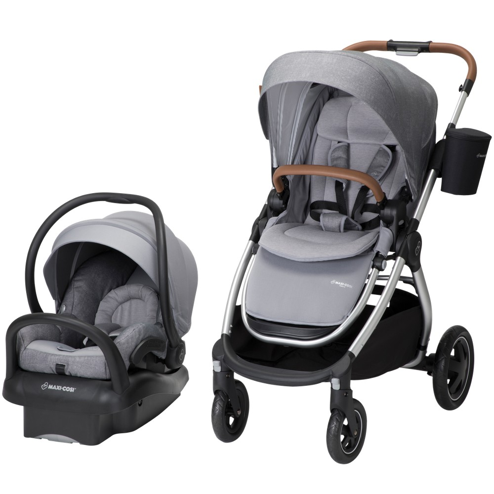 Image of Maxi-Cosi Adorra All-in-One Modular Travel System with Mico Max 30 Infant Car Seat - Nomad Gray