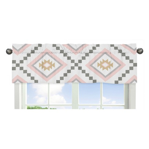 Sweet Jojo Designs Window Valance - Aztec - White - image 1 of 1