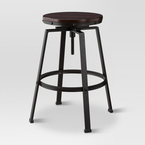 Lewiston Adjustable Swivel Barstool Bronze Threshold