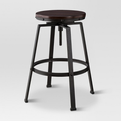 Merveilleux Lewiston Adjustable Swivel Barstool Bronze   Threshold™