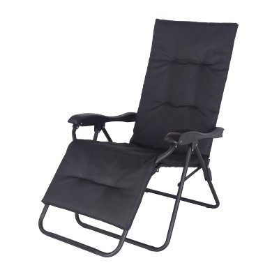 Padded Sling Zero Gravity Patio Lounger - Black - Project 62™
