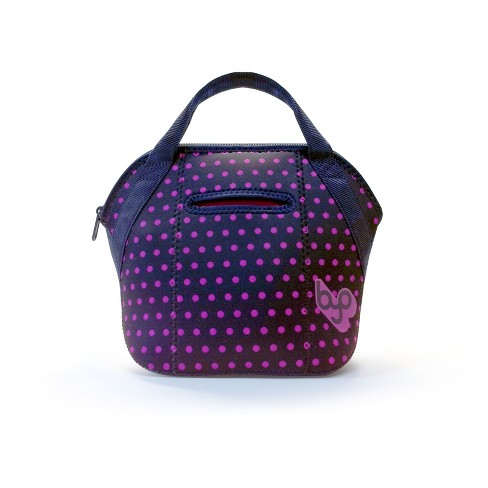 BYO Mini Satchel Lunch Tote - Fuchsia Dots - image 1 of 4