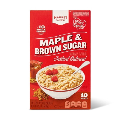 Maple & Brown Sugar Instant Oatmeal - 10ct - Market Pantry™