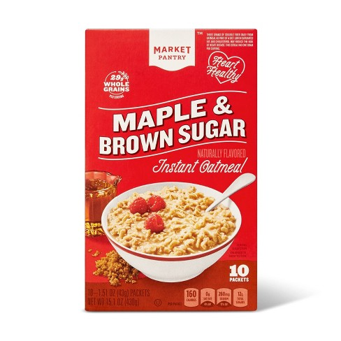 Maple & Brown Sugar Instant Oatmeal - 10ct - Market Pantry™ - image 1 of 4