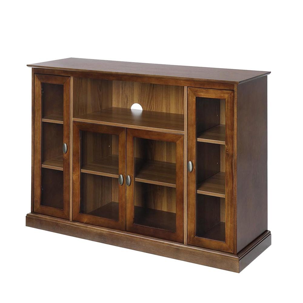 Summit Highboy TV Stand - Dark Walnut (Brown) - Johar Furniture
