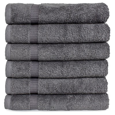 6pc Villa Hand Towel Set Gray - Royal Turkish Towel