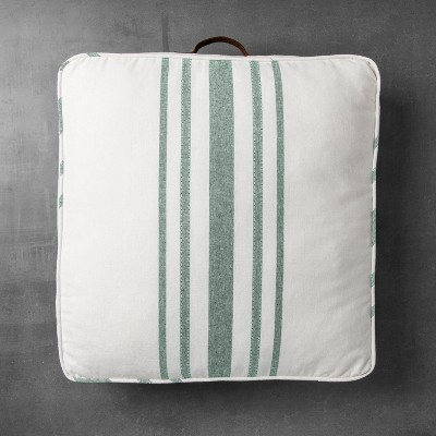 Square Floor Pillow - Green Stripe - Hearth & Hand™ with Magnolia