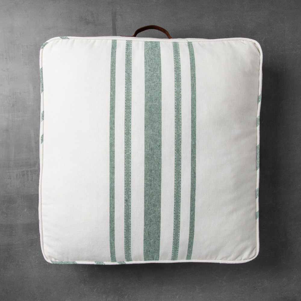 Square Floor Pillow - Green Stripe - Hearth & Hand with Magnolia