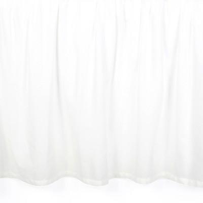 Lambs & Ivy Signature White Cotton Voile Ruffled Crib Skirt