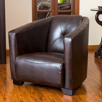 Etonnant Dale Bonded Leather Club Chair Brown   Christopher Knight Home : Target