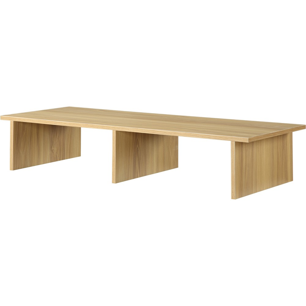 Large Tv/Monitor Riser Light Oak - Johar Furniture, Brown