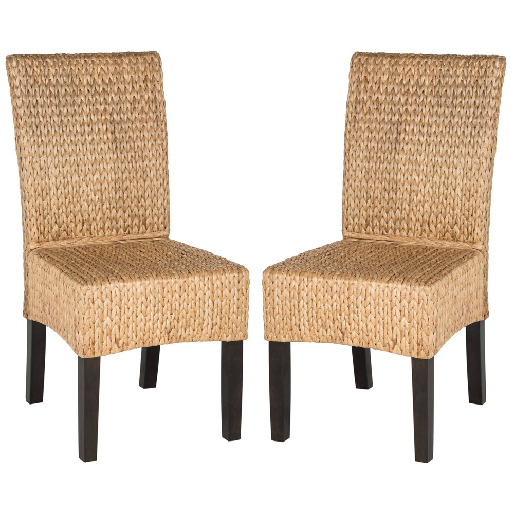 Luz Wicker Dining Chair - Natural (Set of 2) - Safavieh