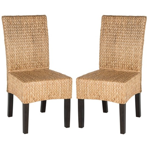 Set of 2 Luz Wicker Dining Chair Natural - Safavieh - image 1 of 4