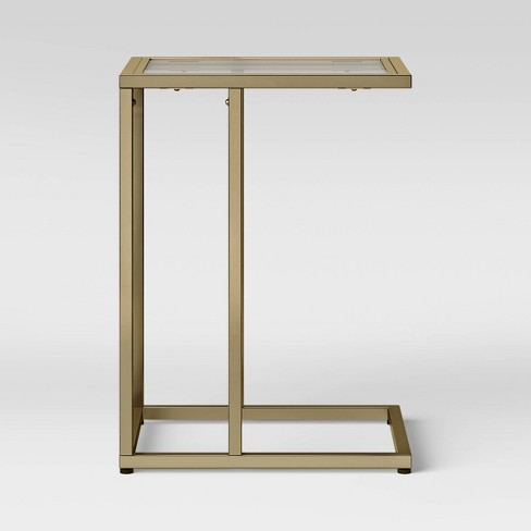 Greenwich Square Glass C Table - Threshold™ - image 1 of 4