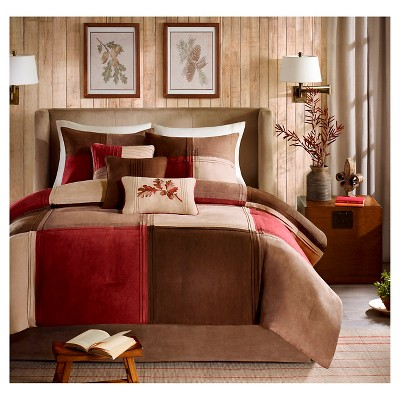 Warren 7 Piece Microsuede Comforter Set