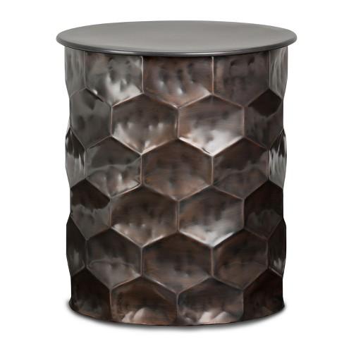 Kacey Metal Storage Side Table Antique Bronze - Wyndenhall - image 1 of 4