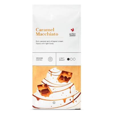 Caramel Macchiato Light Roast Ground Coffee - 12oz - Archer Farms™