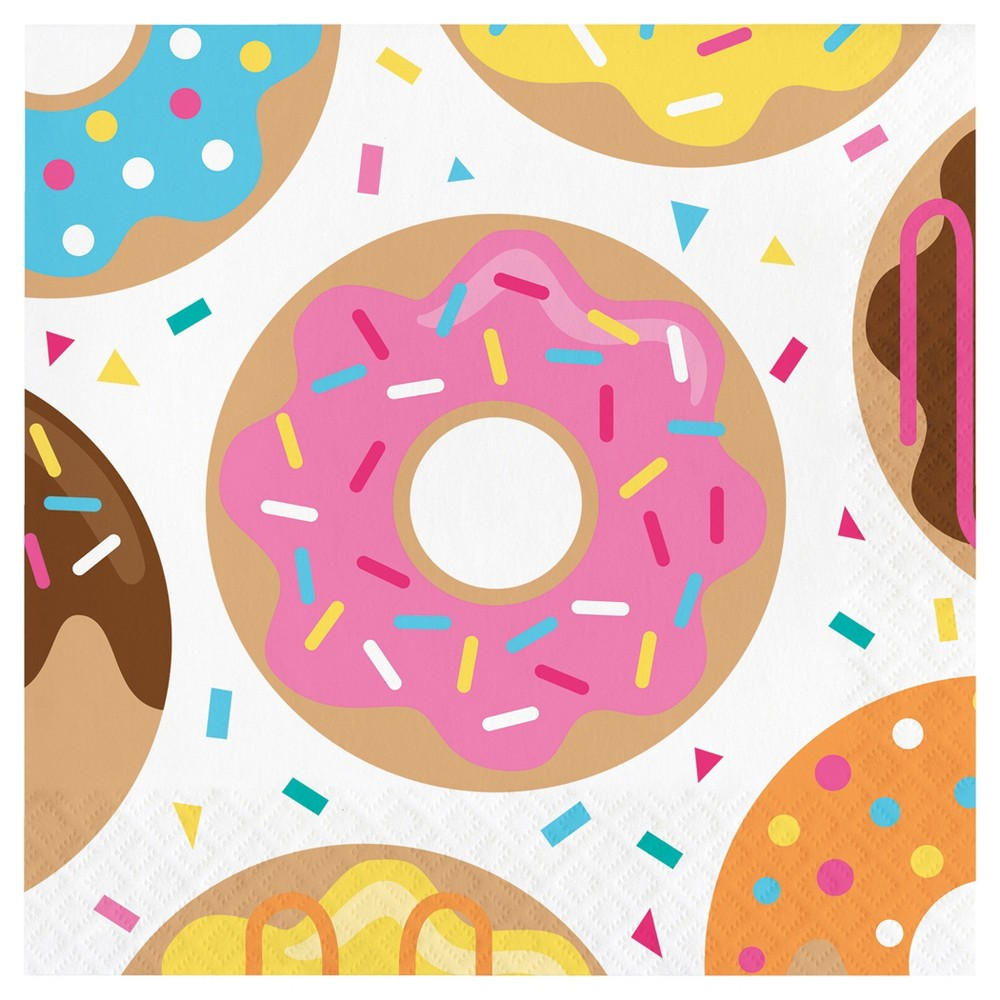 Image of 16ct Donut Time Napkins, Disposable Napkins