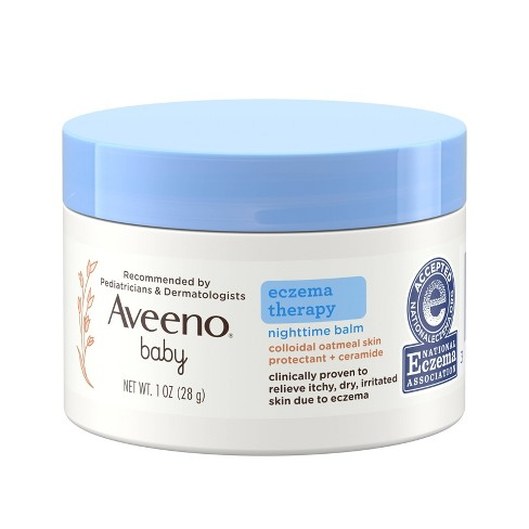 Aveeno Baby Eczema Therapy Nighttime Balm with Natural Oatmeal - 1oz - image 1 of 4