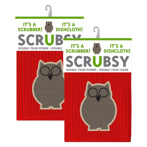 2 in 1 Dishcloth with Scrubber Set of 2 - Mu Kitchen - image 1 of 1