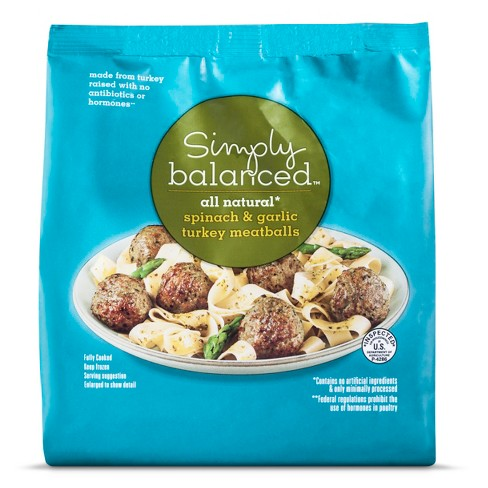 Spinach & Garlic Turkey Meatballs - 20oz - Simply Balanced™ - image 1 of 1