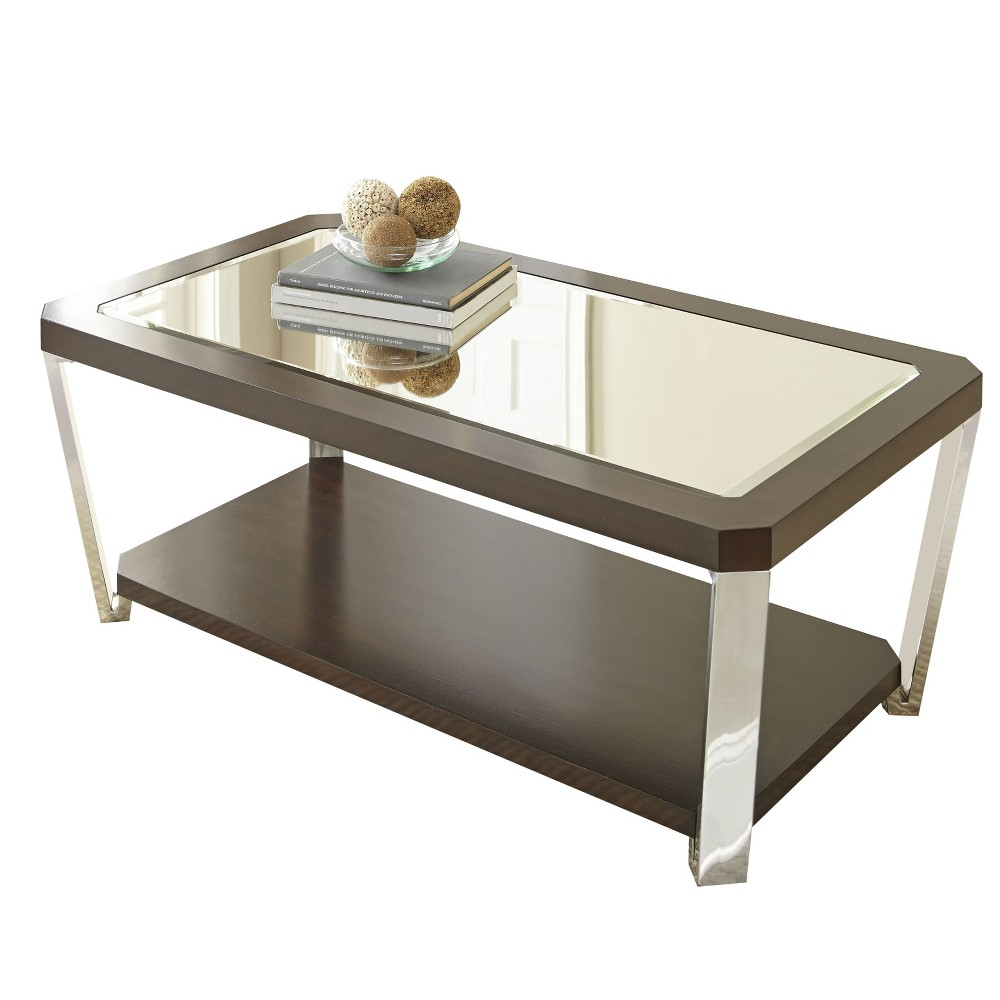 Truman Cocktail Table with Casters Espresso (Brown) - Steve Silver
