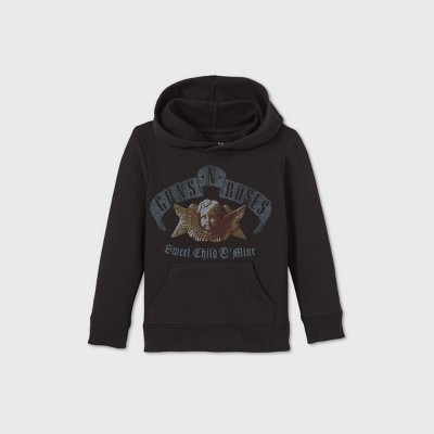 Toddler Boys' Guns N' Roses Fleece Hooded Sweatshirt - Black
