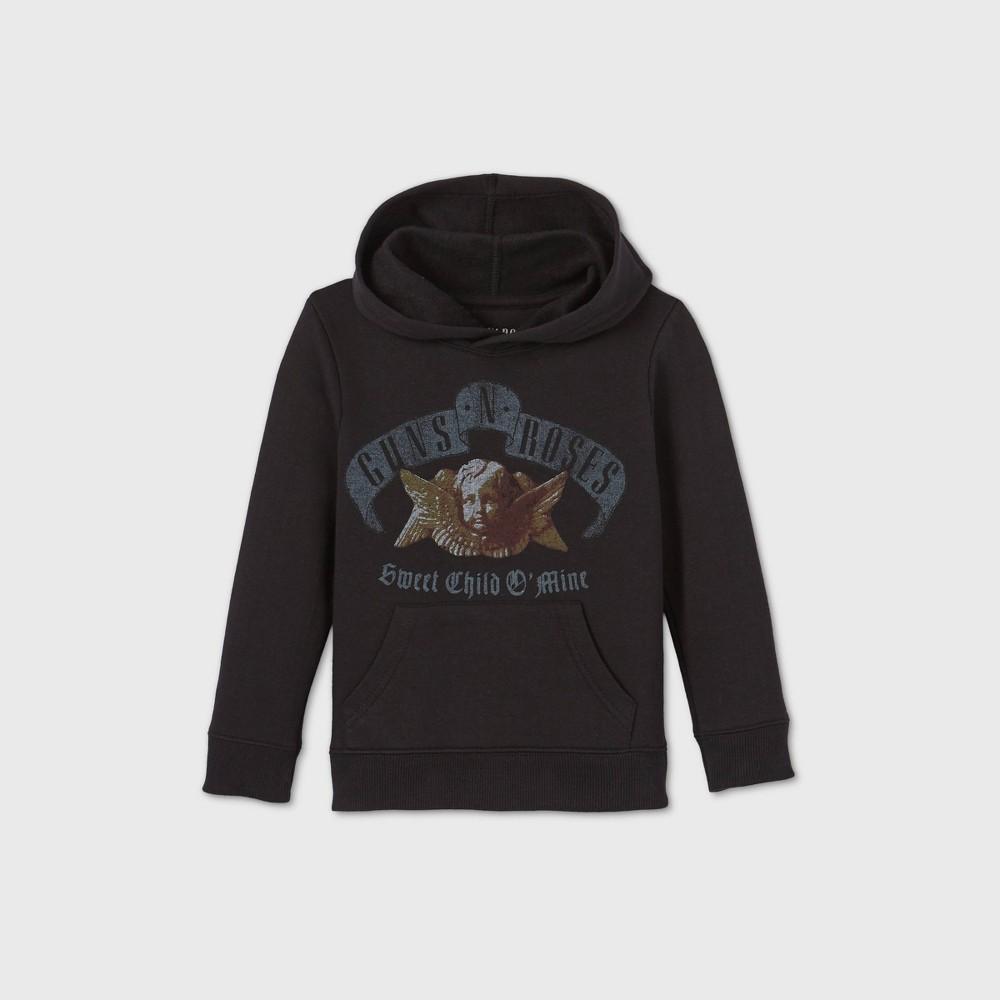 Toddler Boys 39 Guns N 39 Roses Fleece Hooded Sweatshirt Black 12t