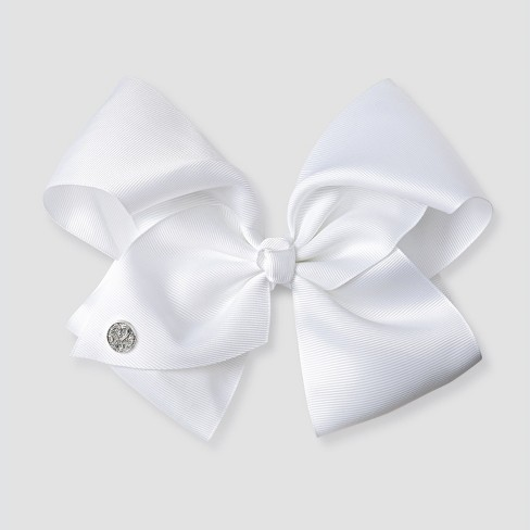 Girls  JoJo Siwa Bow Hair Clip - White   Target 15f874e9ced