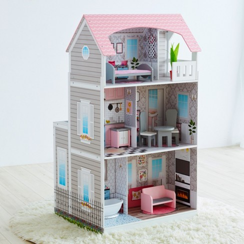 Teamson 2-in-1 Play Kitchen & Dollhouse - image 1 of 12